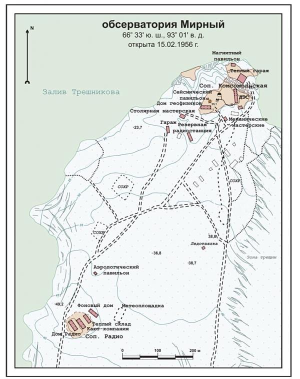 Общий план станции Мирный
