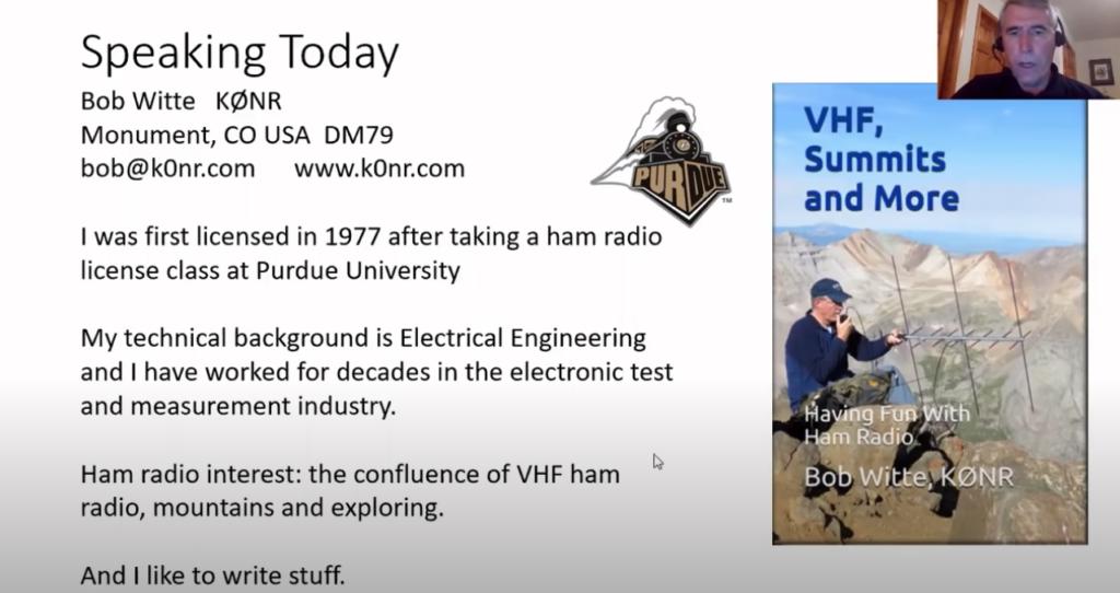 Having Fun With VHF – Bob Witte K0NR