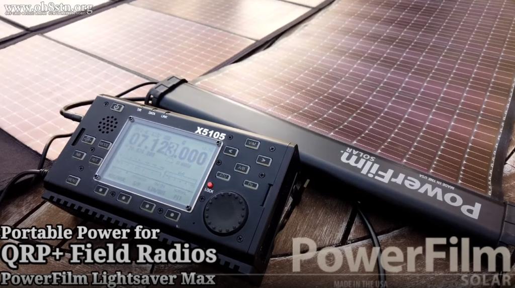 Portable QRP Ham Radio & PowerFilm Lightsaver Max