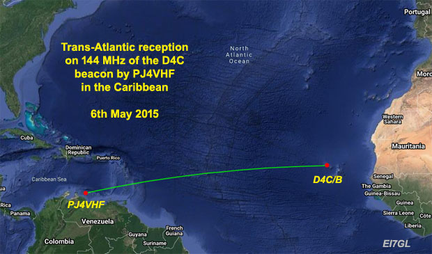 Looking back at the first 144 MHz trans-Atlantic reception report of the Cape Verde D4C beacon in 2015