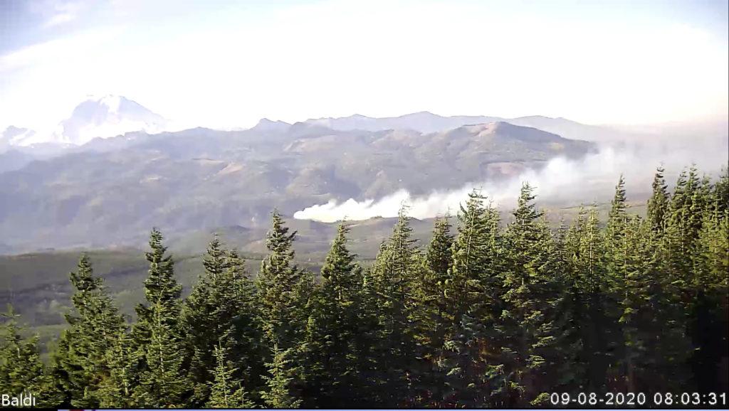 Ham Radio Wireless Network Camera Detects Washington Wildfire