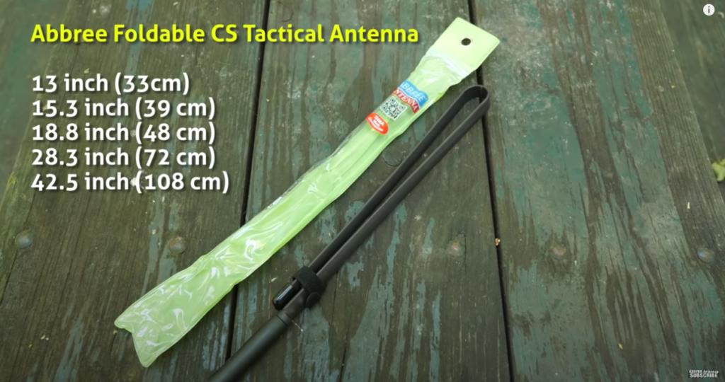 Abbree Foldable CS Tactical Antenna