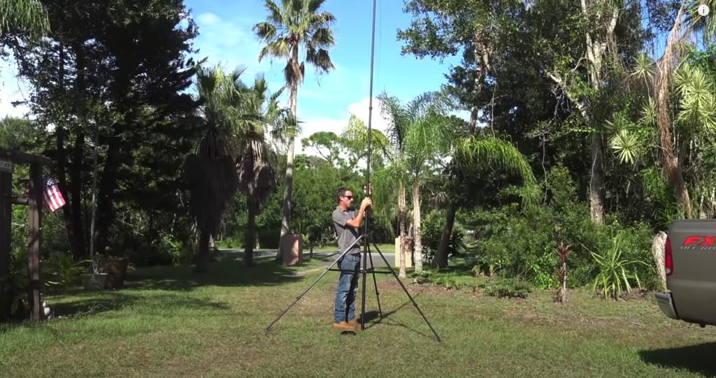 Portable Carbon Fiber Telescopic Antenna Mast With Premium Tripod, Review/Demo