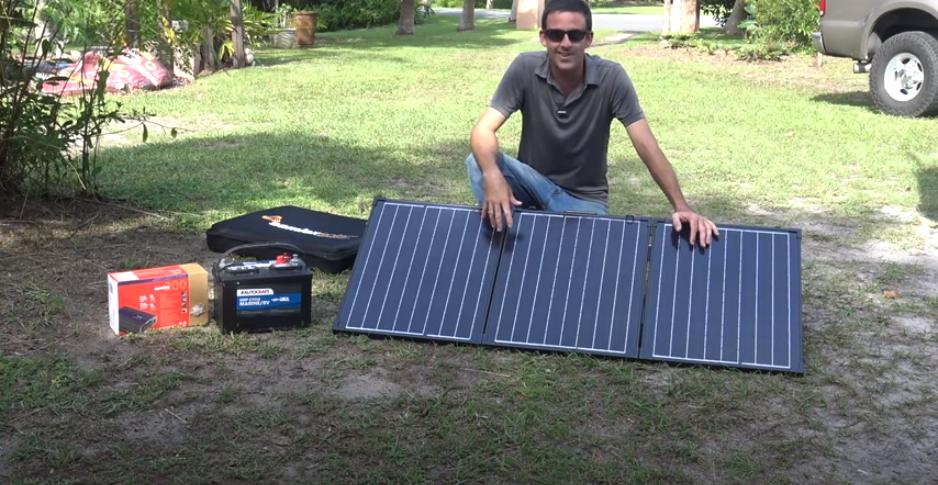Portable Solar Power, Samlex Foldable Solar Panel, Off-Grid Emergency Electricity