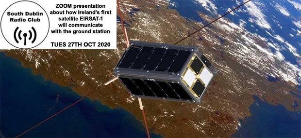 Upcoming ZOOM presentation about the communications system for Ireland's first satellite - EIRSAT-1