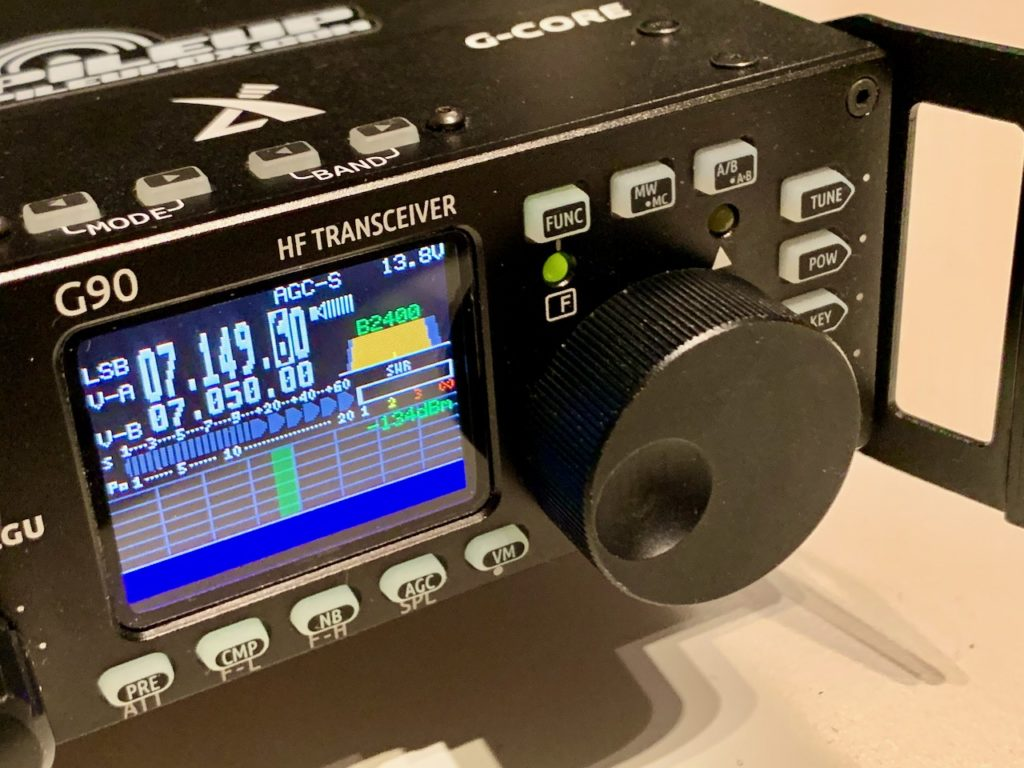 The Xeigu G90 QRP Transceiver on CW