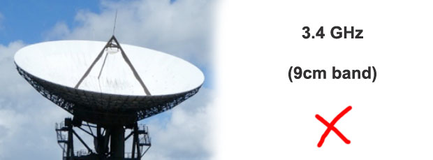 Radio amateurs in the USA to lose the 3.4 GHz microwave band