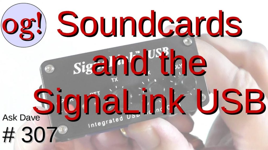 Soundcards and the SignaLink USB