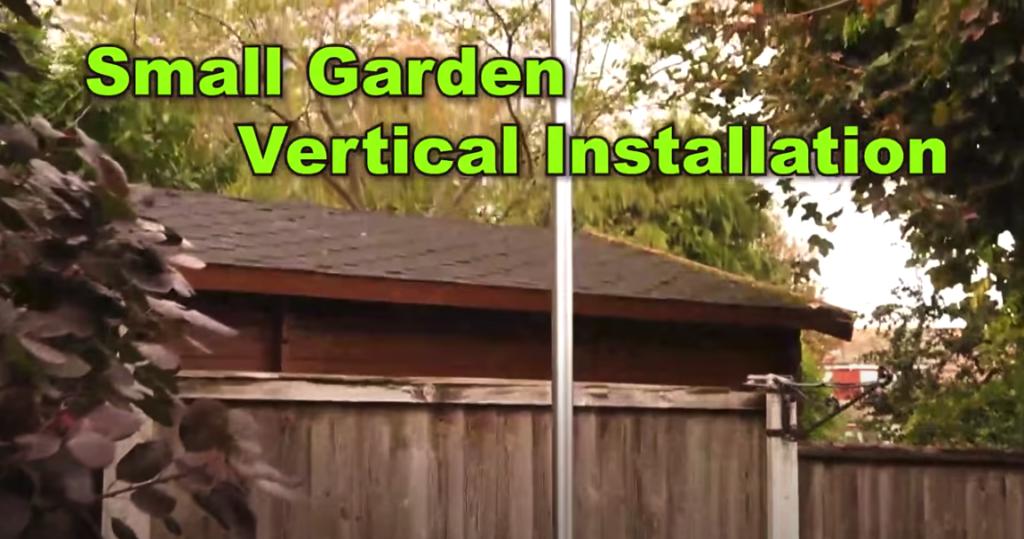 Small Garden Vertical HF Antenna Installation