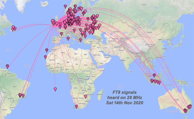 Opening to Australia on 28 MHz - Sat 14th Nov 2020