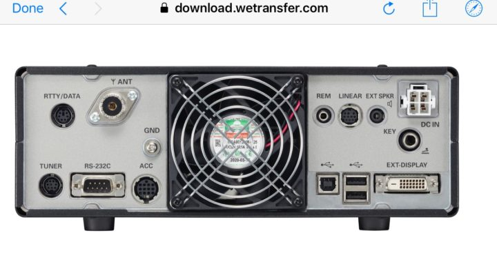Newly released pictures of the new FTDX10 SDR