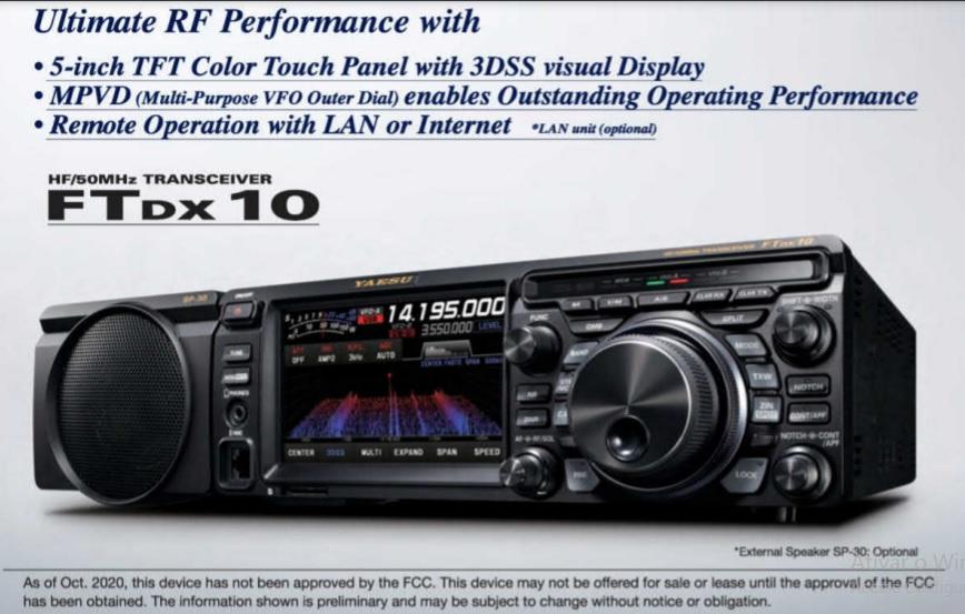 The New Yaesu FTDX10 Update