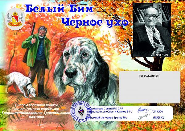 Voronezh Oblast Activity Day for the White Bim Black Ear Diploma November 29
