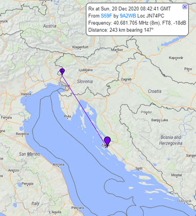 40 MHz signals from Slovenia heard in Croatia