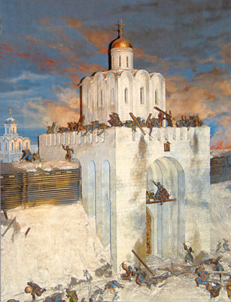 Fortresses of Russia - on the air Golden Gate of Vladimir