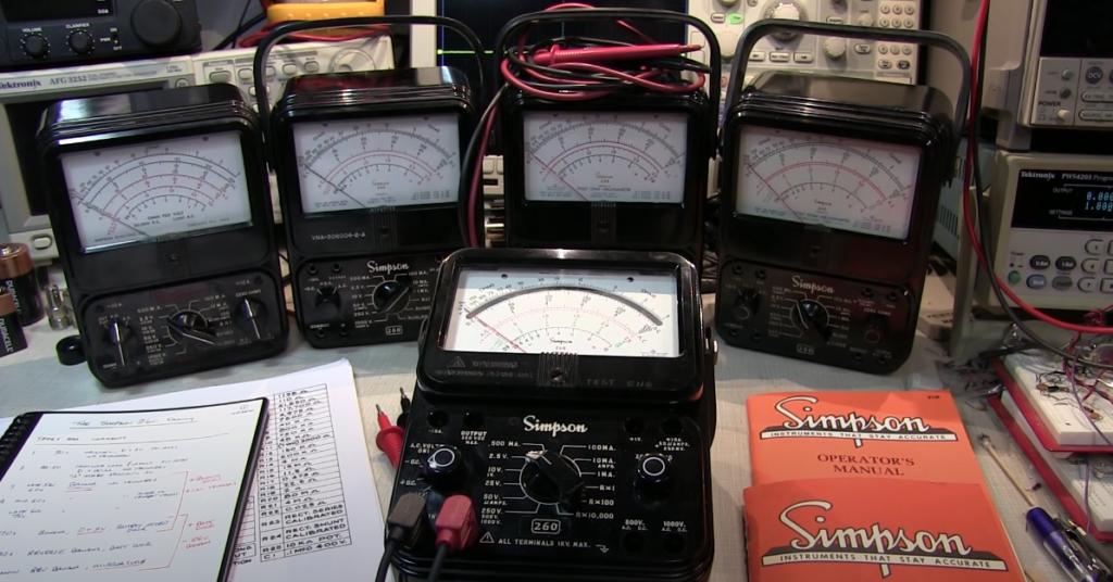 Vintage Tech: The Simpson 260 VOM Volt-Ohm-Milliammeter family