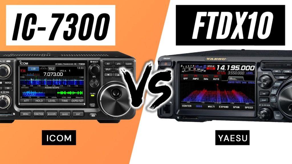 FTdx10 vs IC-7300 Comparison