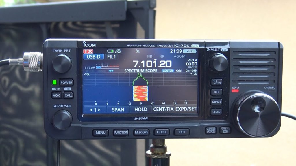 ICOM 705, Sending/Receiving Email At 5 Watts, 40 Meters With Chameleon F-Loop 2.0, VARA HF