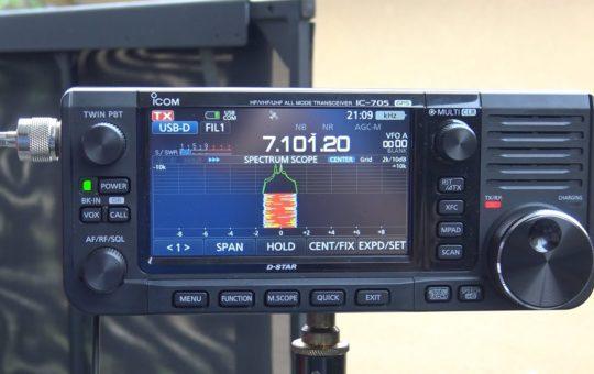 ICOM 705, Sending/Receiving Email At 5 Watts, 40 Meters With Chameleon F-Loop 2.0, VARA HF